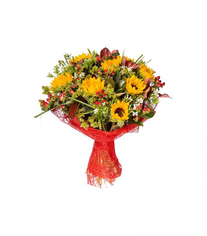 זר פרחים חמניות