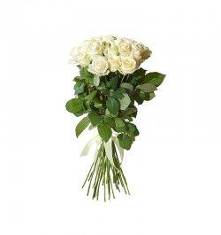 זר פרחים - ורדים לבנים