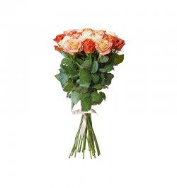 זר פרחים - ורדים צבעוני