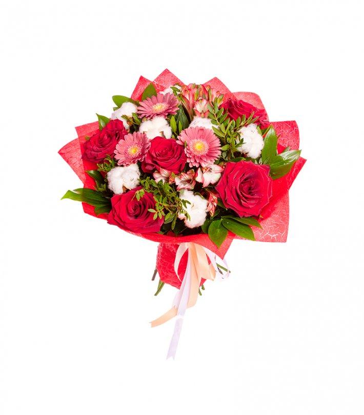זר פרחים רומנטי