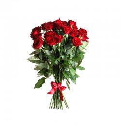 זר פרחים - ורדים אדומים
