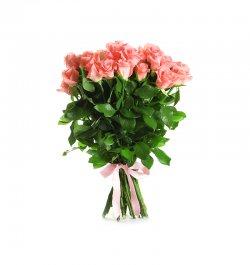 זר פרחים - ורדים פינק