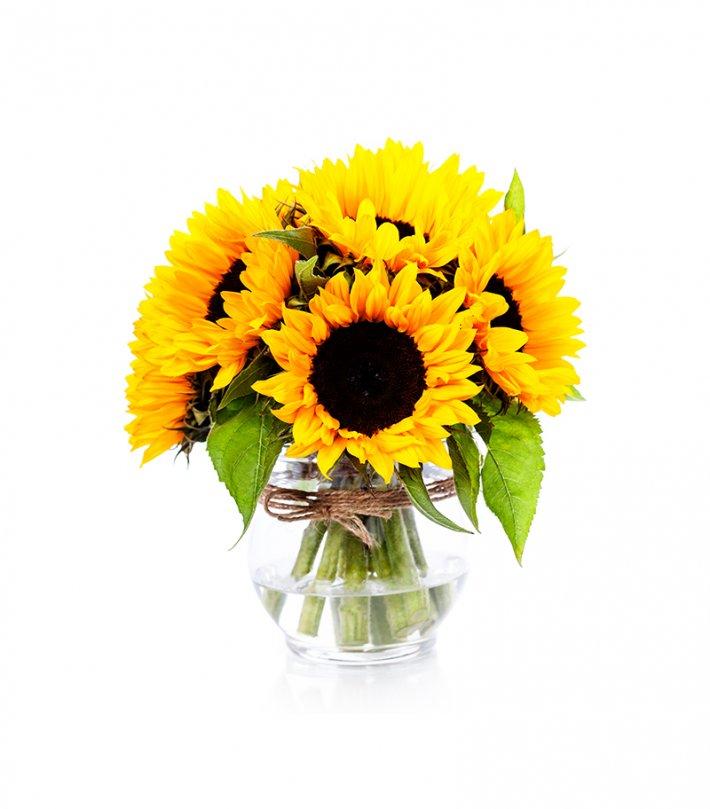 זר פרחים - חמניות באגרטל