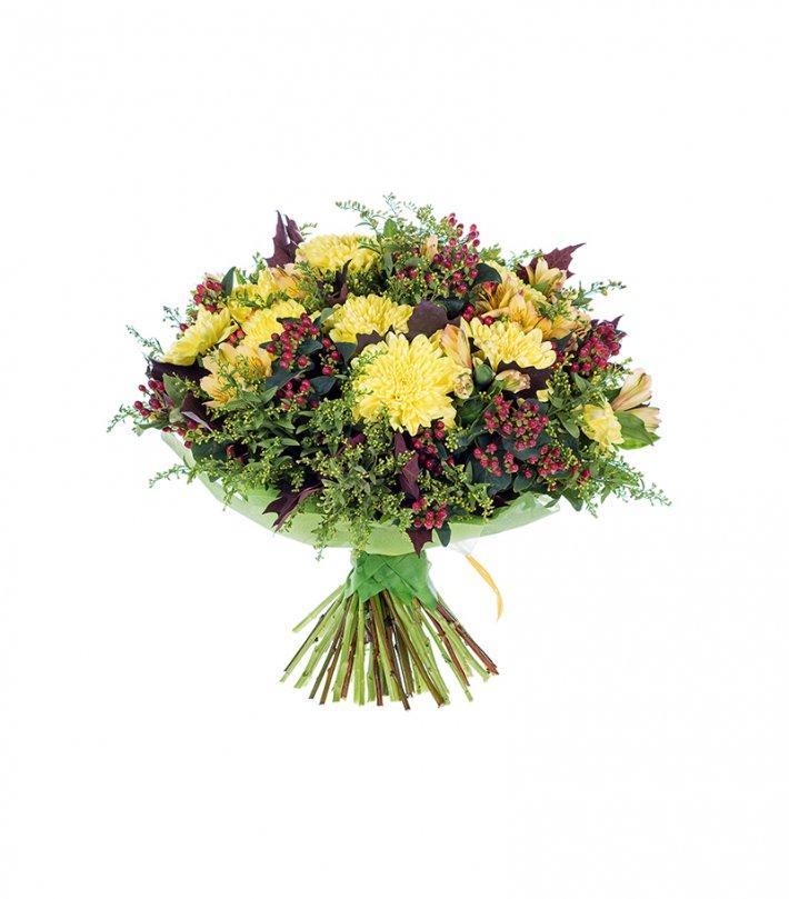 זר פרחים צהוב