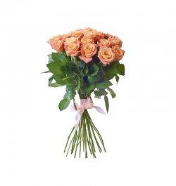 זר פרחים - ורדים אפרסק