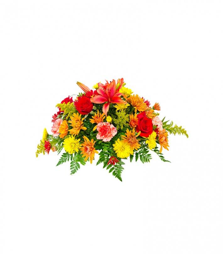 סידור פרחים - ליליות, ורדים וציפורן