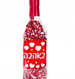 בקבוק ממתקים עם לבבות